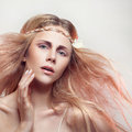 Free Beautiful Woman With A Flower Royalty Free Stock Images - 34257279