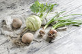 Free Fresh Vegetables On Old Wooden Table Stock Photo - 34258990