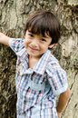 Free Little Boy Smiling In The Park Portrait Stock Photography - 34265802