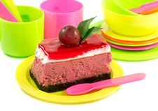 Tasty Looking Piece Of Cake Stock Images