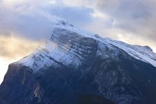 Free Mount Rundle And Early Morning Light Royalty Free Stock Images - 34264529