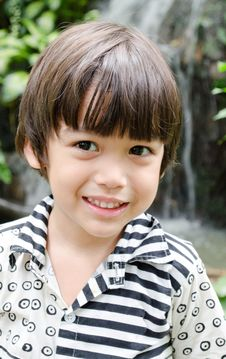 Free Little Asian Boy Smiling Portrait Royalty Free Stock Photography - 34265807