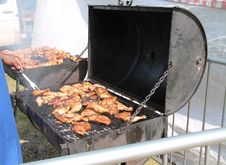 Free Barbeque Cooking. Royalty Free Stock Image - 34265996