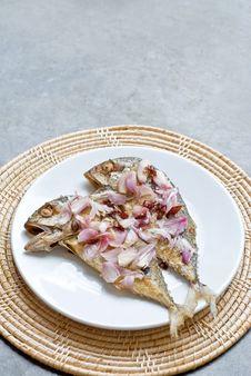Free Fry Mackerel Fish Stock Photography - 34266152