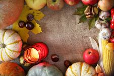 Free Thanksgiving Border Stock Photo - 34268560