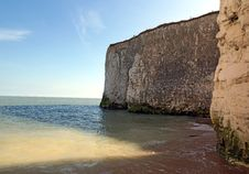 Botany Bay Chalk Cliffs Royalty Free Stock Image