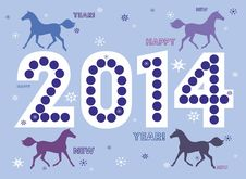 Free New Year Horse 2014 Royalty Free Stock Photo - 34274945