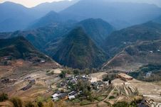 Free Village Near Blue Mountain Cat Cat In Sapa Royalty Free Stock Image - 34276686