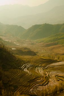 Free Stairways Rice Fields, Vietnam Stock Images - 34276884