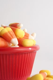 Free Candy Corn In A Red Bowl Royalty Free Stock Photography - 34283727