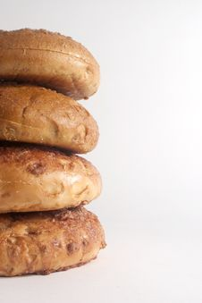 Cinnamon Bagels Stock Image