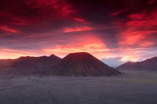 Free Sunset At Volcanoes Of Bromo Stock Images - 34286814