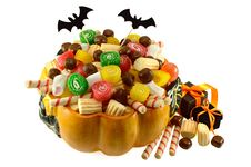 Free Pumpkin Full Of Sweets 2 Stock Photos - 34288093