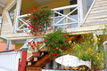 Free House With Decorative Flowers And Fish Stock Photos - 34294973