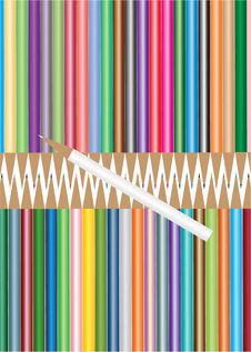 Free Colored Pencils. Royalty Free Stock Images - 34294129