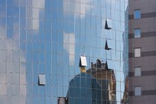Free Glass Windows Of New Buildings In Kiev Royalty Free Stock Photo - 34294765