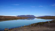Free Lake Hvitarvatn From The Langjökull Glacier. Stock Photos - 34296343