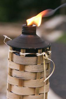 Burning Tiki Royalty Free Stock Photos