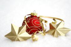 Free Red Christmas Ball Stock Photos - 34298083