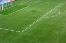 Free In Front Of Goal. Stock Photo - 34299870