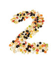 Free Dried Fruits Digit 2 Stock Photo - 3432580