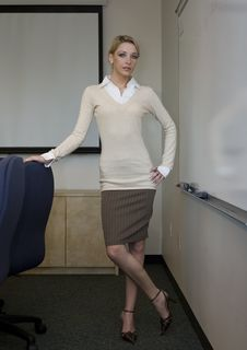 Free Beautiful Blonde Business Woman Stock Photography - 3432592