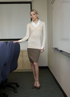 Free Beautiful Blonde Business Woman Stock Photos - 3432593