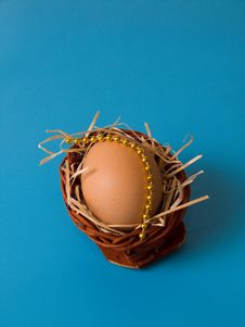 Egg With Blue Royalty Free Stock Photography
