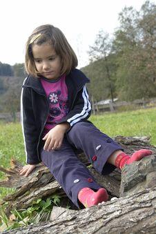 Free Sad Little Girl Stock Photography - 3432912