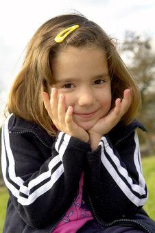 Free Happy Little Girl Stock Photo - 3433220