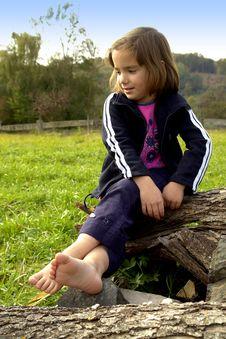 Free Happy Little Girl Stock Photo - 3433460