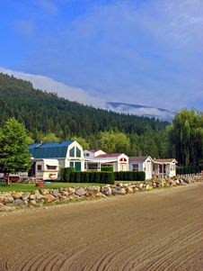Free Waterfront Houses, BC, Canada Stock Photos - 3433843