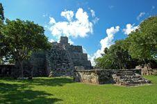 Small Ancient Mayan Pyramid Stock Photography