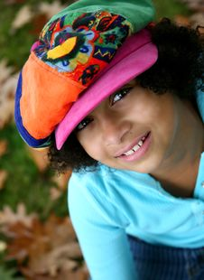 Free Girl In The Colorful Hat Royalty Free Stock Photo - 3434785