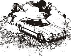 Free Classic Car Illustration Stock Photos - 3434863