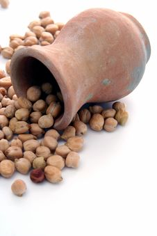 Free Split Peas At Terracotta Jug Stock Photography - 3435552