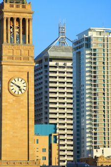 Free Brisbane Clock Tower Royalty Free Stock Image - 3435596