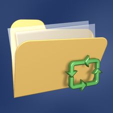 Free Recycle Files Folder Royalty Free Stock Image - 3435646