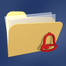 Files  Folder And Bell Stock Photos