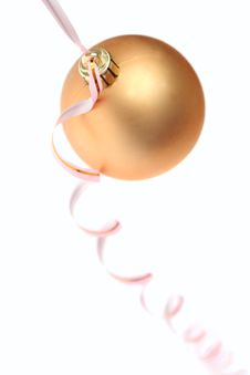 Free Gold New Year S Toy Royalty Free Stock Images - 3435729