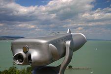Binoculars With Clouds Royalty Free Stock Photos