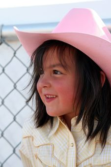 Free Cowgirl Pink Hat Royalty Free Stock Photos - 3435998
