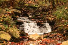 Free Small Waterfall In The Wood Royalty Free Stock Images - 3436019