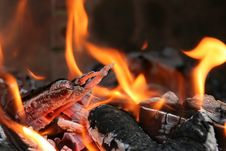 Free Close Up Of Burning Fire Royalty Free Stock Photos - 3436738