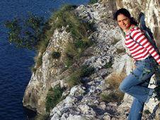 Free Girl Near A River Bank Royalty Free Stock Image - 3437536