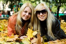 Free Autumn Girls. Stock Photo - 3437660