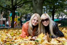 Free Autumn Girls Stock Photo - 3437710