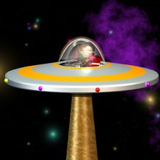 Free UFO 02 Royalty Free Stock Photography - 3437947