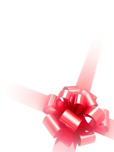 Free Red Ribbon Isolated On White Stock Photos - 3438233