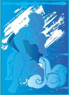 Free Aquarius Blue Grunge Stock Photo - 3438530